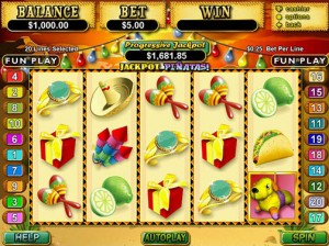 Piñatas Progressive Jackpot Won
