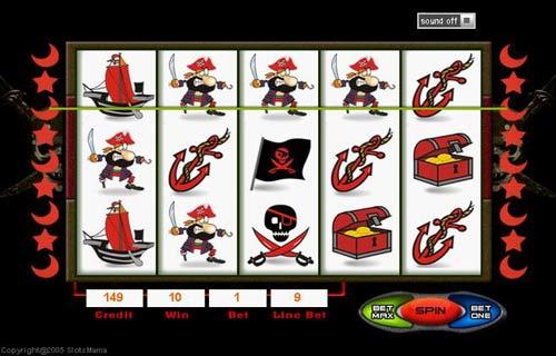 Pirates Slot Machine Paytables